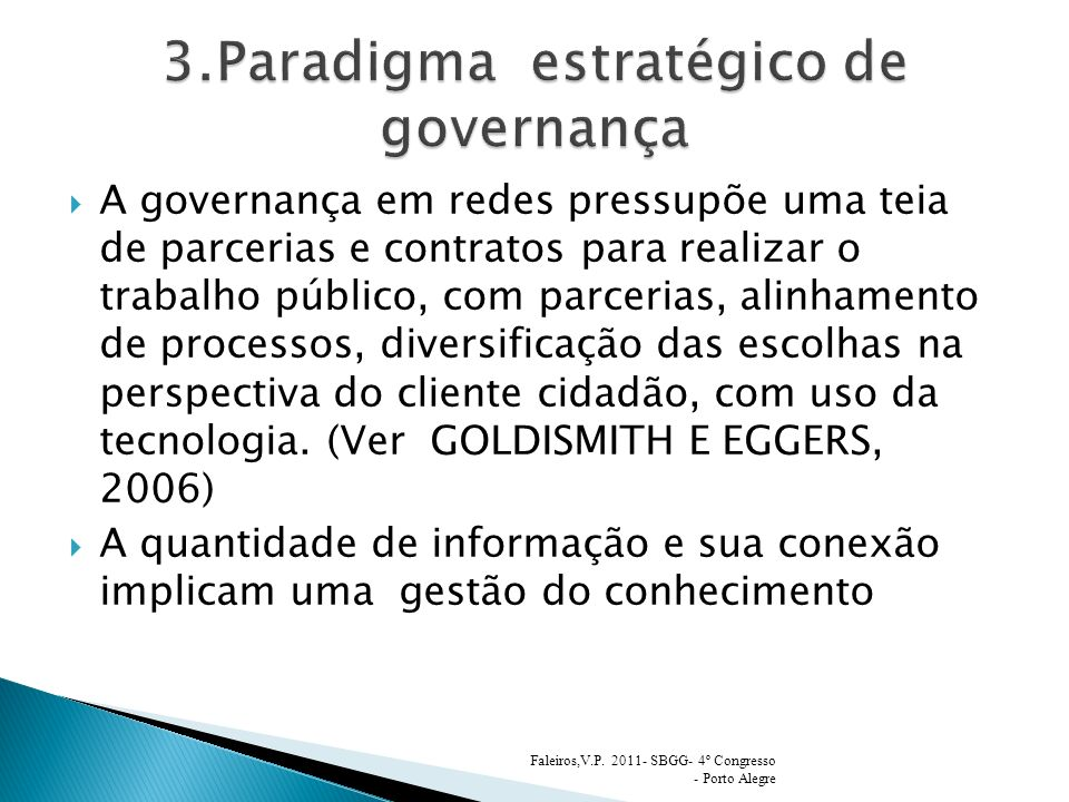 3.Paradigma estratégico de governança