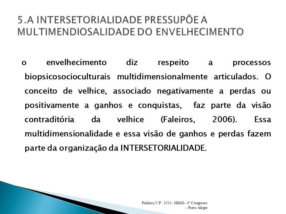5.A INTERSETORIALIDADE PRESSUPÕE A MULTIMENDIOSALIDADE DO ENVELHECIMENTO