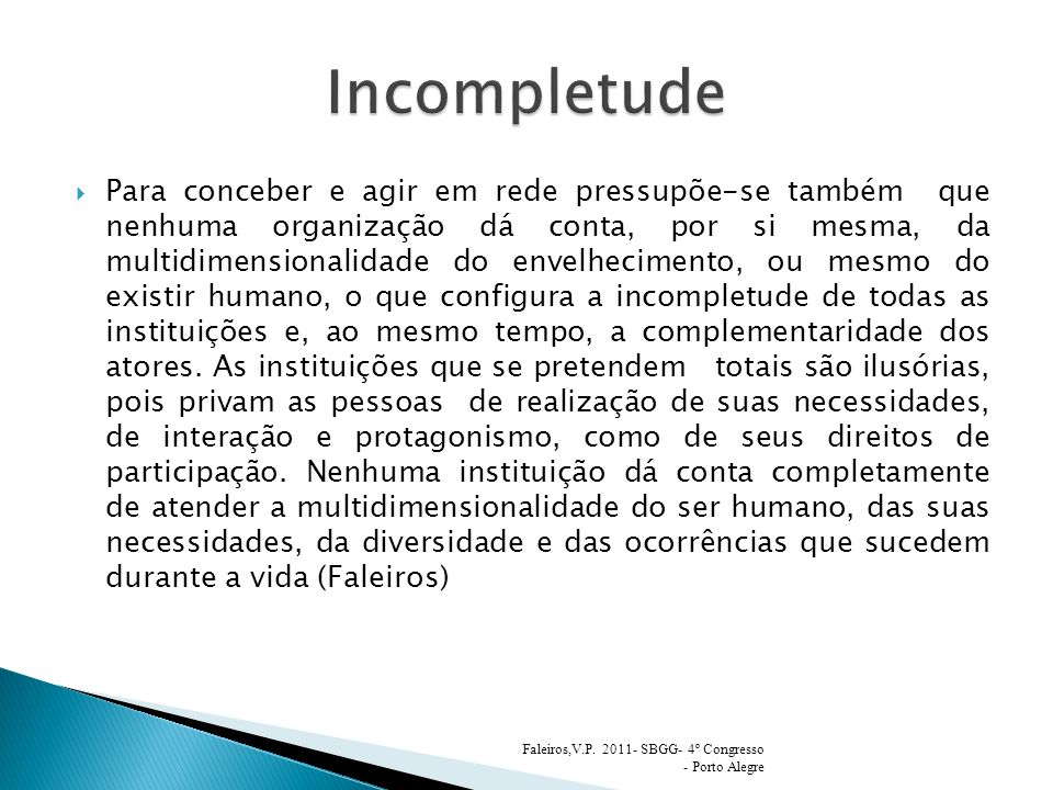 Incompletude