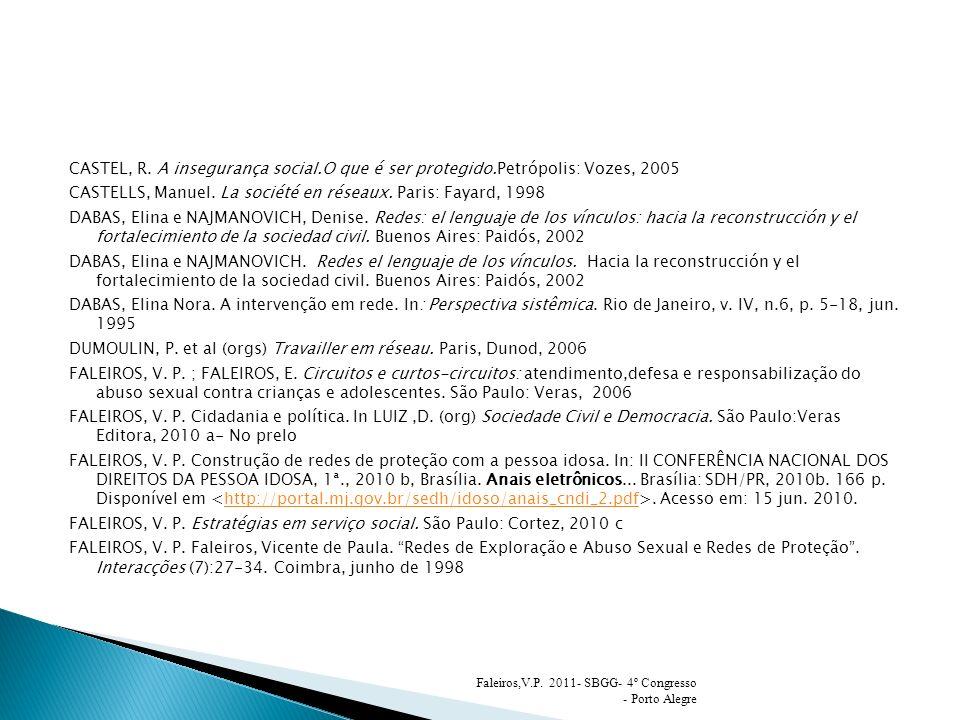 CASTELLS, Manuel. La société en réseaux. Paris: Fayard, 1998