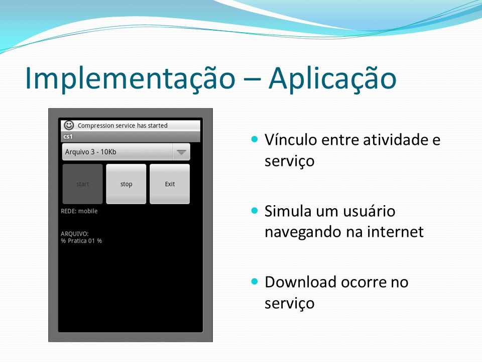 Implementação – Aplicação