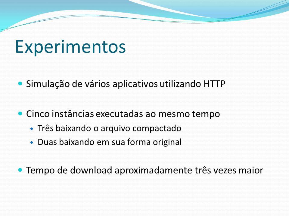 Experimentos Simulação de vários aplicativos utilizando HTTP