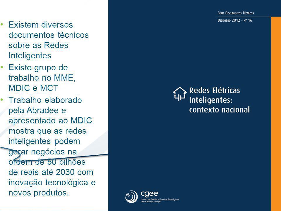 Existem diversos documentos técnicos sobre as Redes Inteligentes