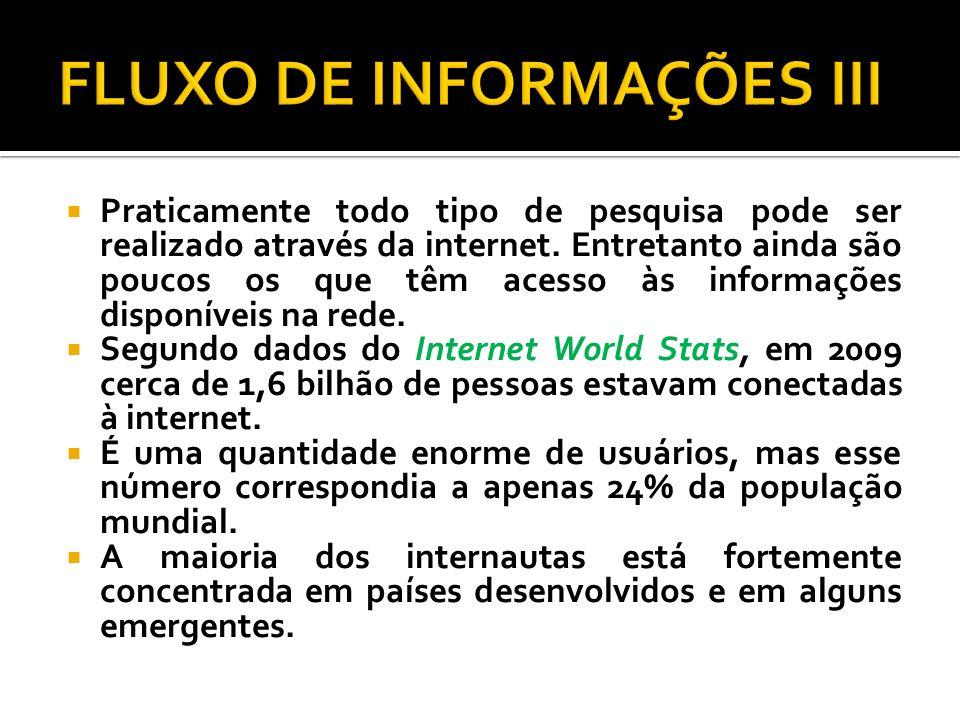 FLUXO DE INFORMAÇÕES III
