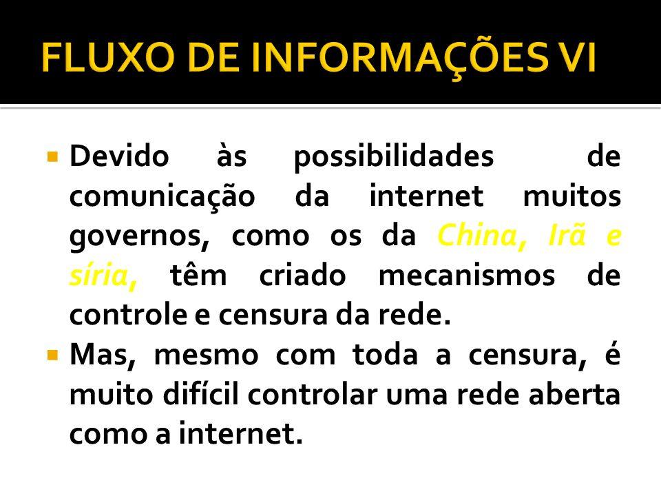FLUXO DE INFORMAÇÕES VI