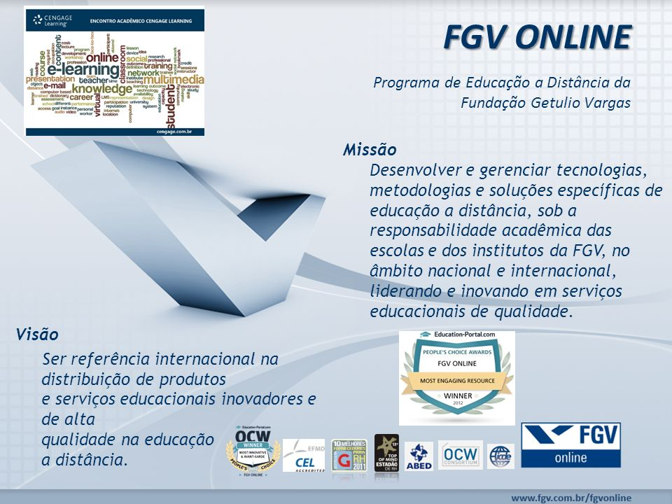 FGV ONLINE Programa de Educação a Distância da Fundação Getulio Vargas
