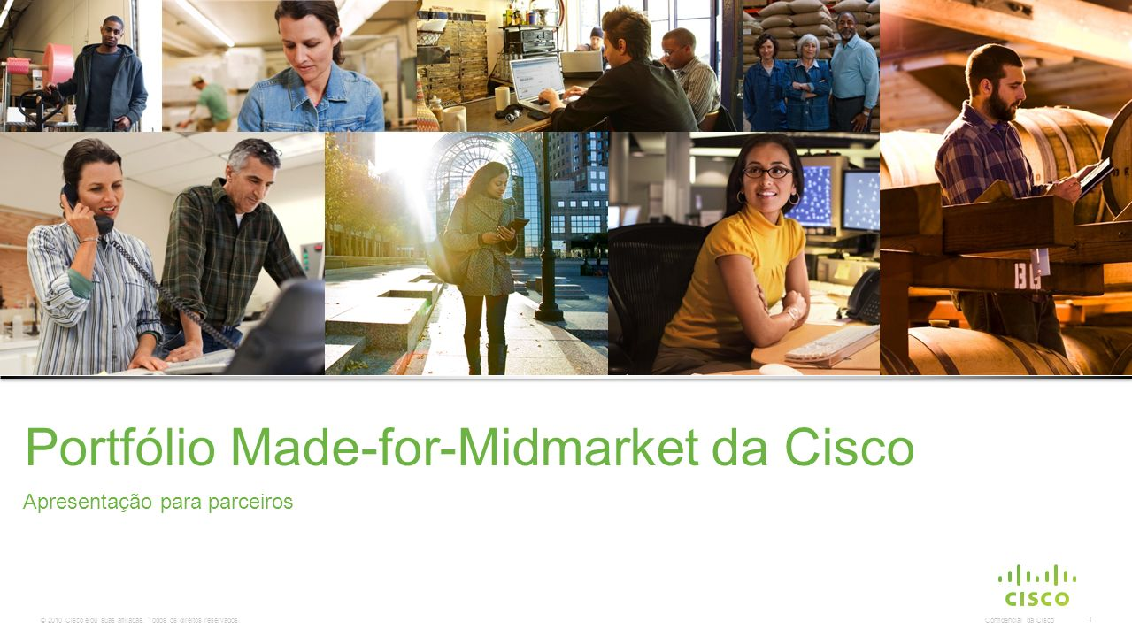 Portfólio Made-for-Midmarket da Cisco