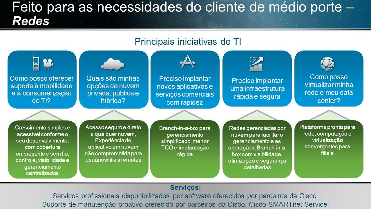 Feito para as necessidades do cliente de médio porte – Redes