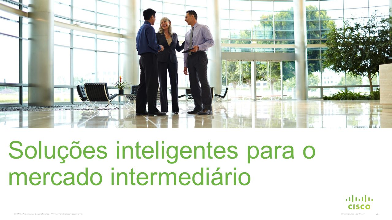 Soluções inteligentes para o mercado intermediário