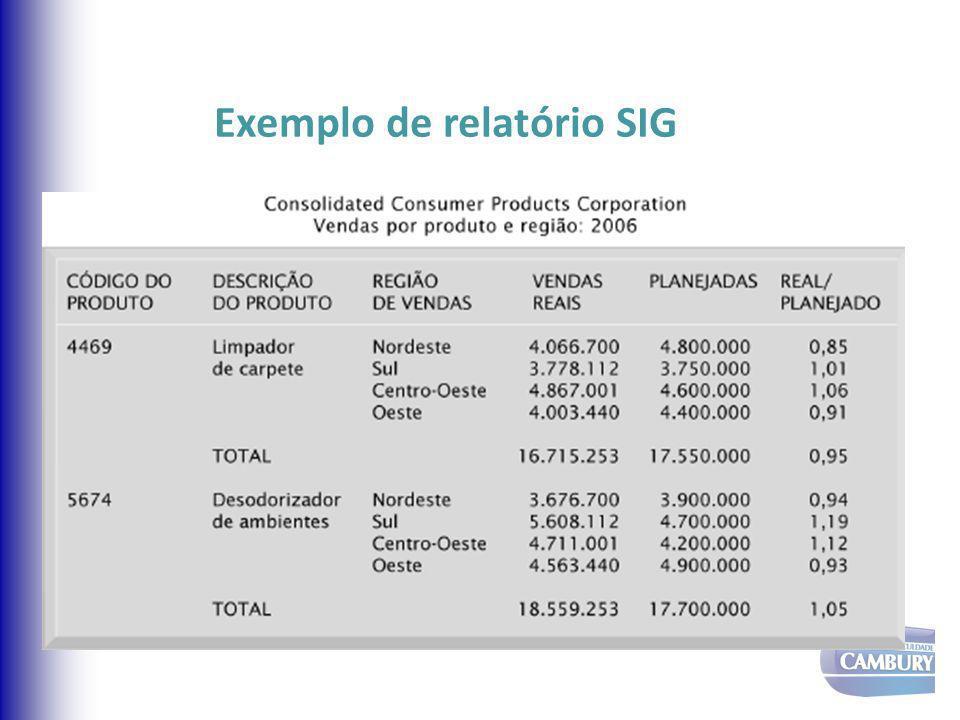 Exemplo de relatório SIG