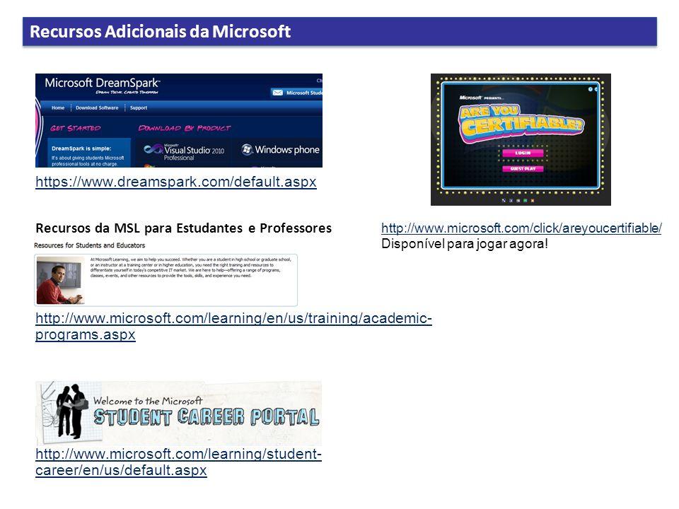Recursos Adicionais da Microsoft