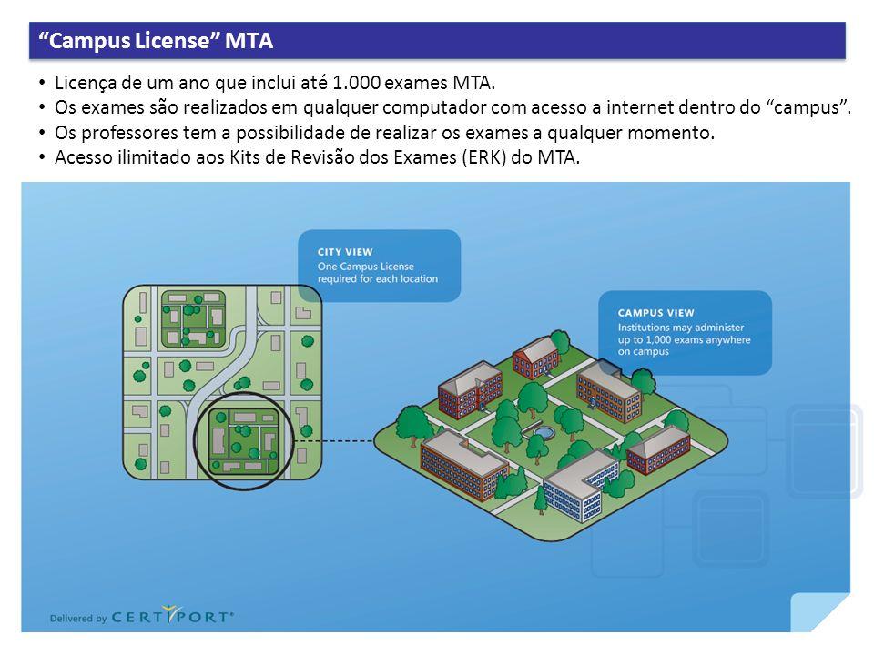 3/30/2017 5:54 PM Campus License MTA. Licença de um ano que inclui até 1.000 exames MTA.