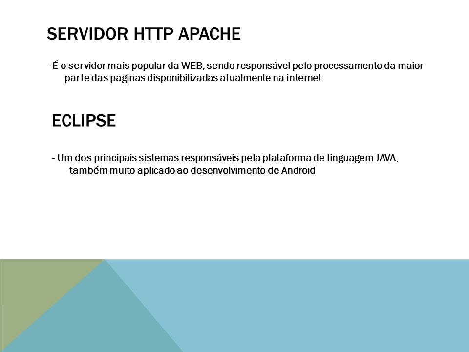 SERVIDOR HTTP APACHE ECLIPSE
