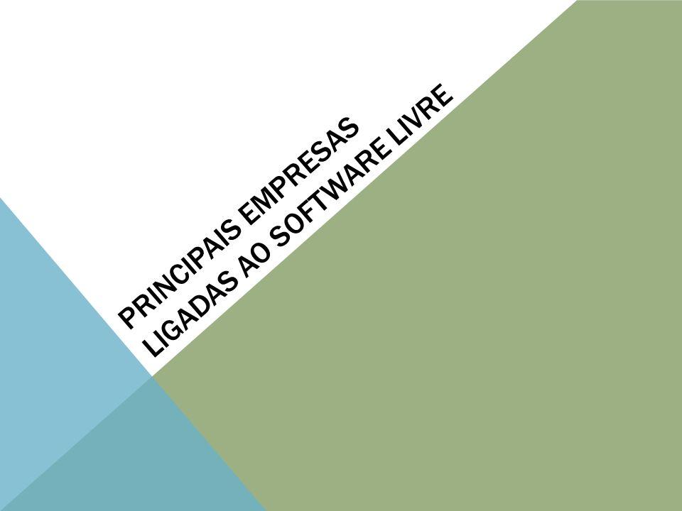 PRINCIPAIS EMPRESAS LIGADAS AO SOFTWARE LIVRE