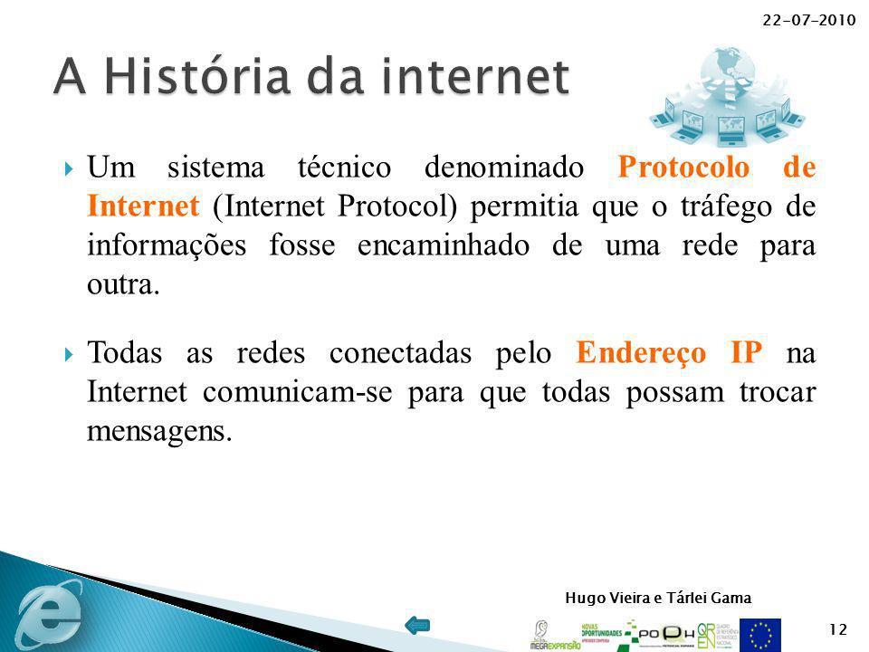 22-07-2010 A História da internet.