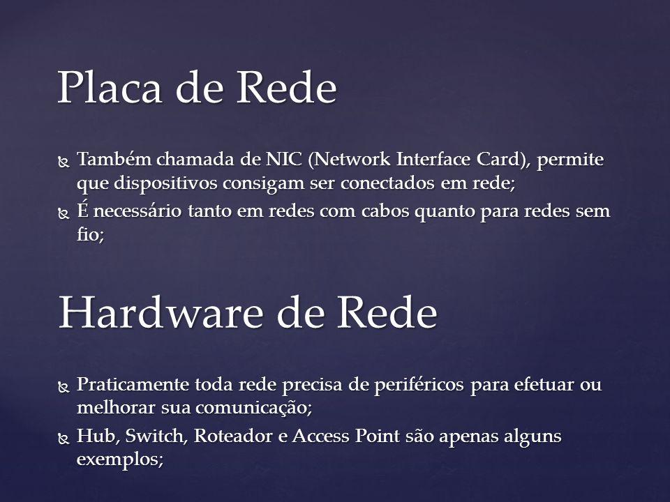 Placa de Rede Hardware de Rede
