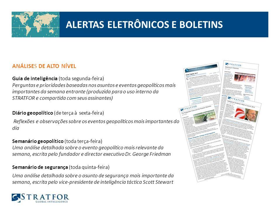 ALERTAS ELETRÔNICOS E BOLETINS