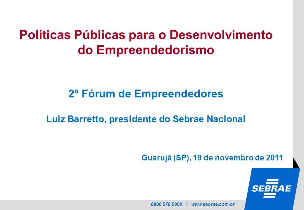 Políticas Públicas para o Desenvolvimento do Empreendedorismo