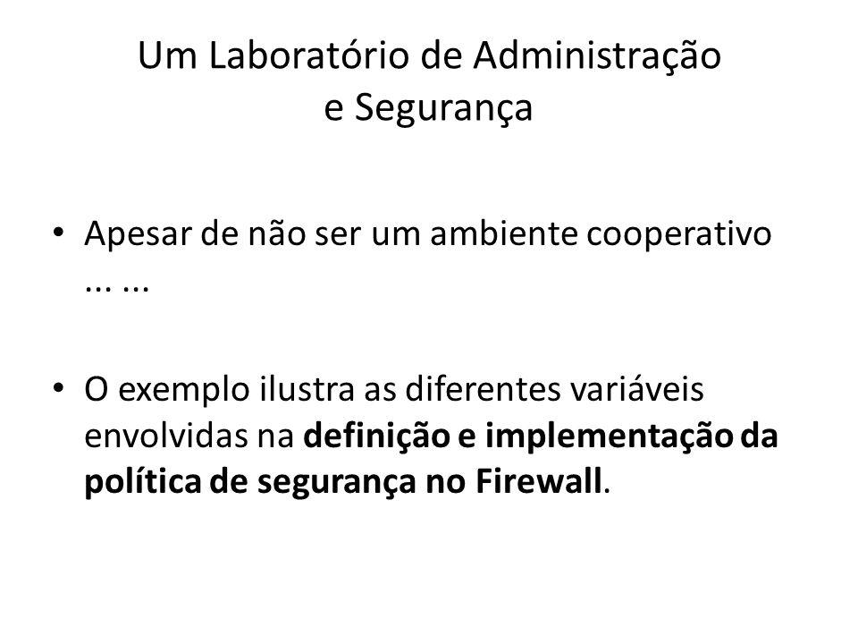 Um Laboratório de Administração e Segurança