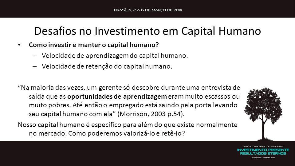 Desafios no Investimento em Capital Humano