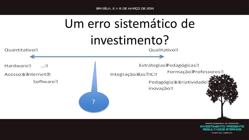 Um erro sistemático de investimento