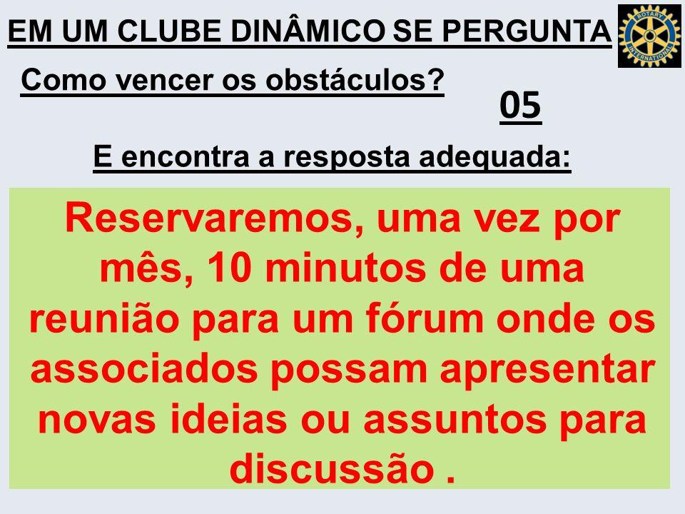 EM UM CLUBE DINÂMICO SE PERGUNTA