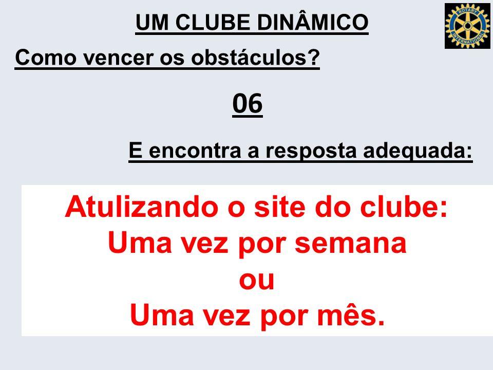 Atulizando o site do clube: