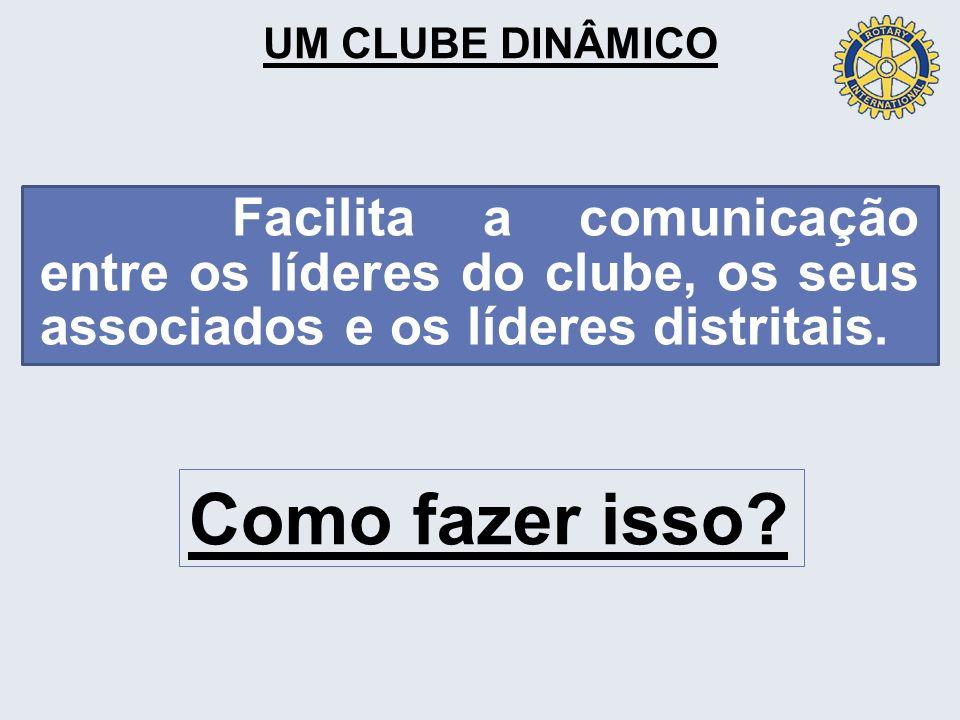 UM CLUBE DINÂMICO Facilita a comunicação entre os líderes do clube, os seus associados e os líderes distritais.