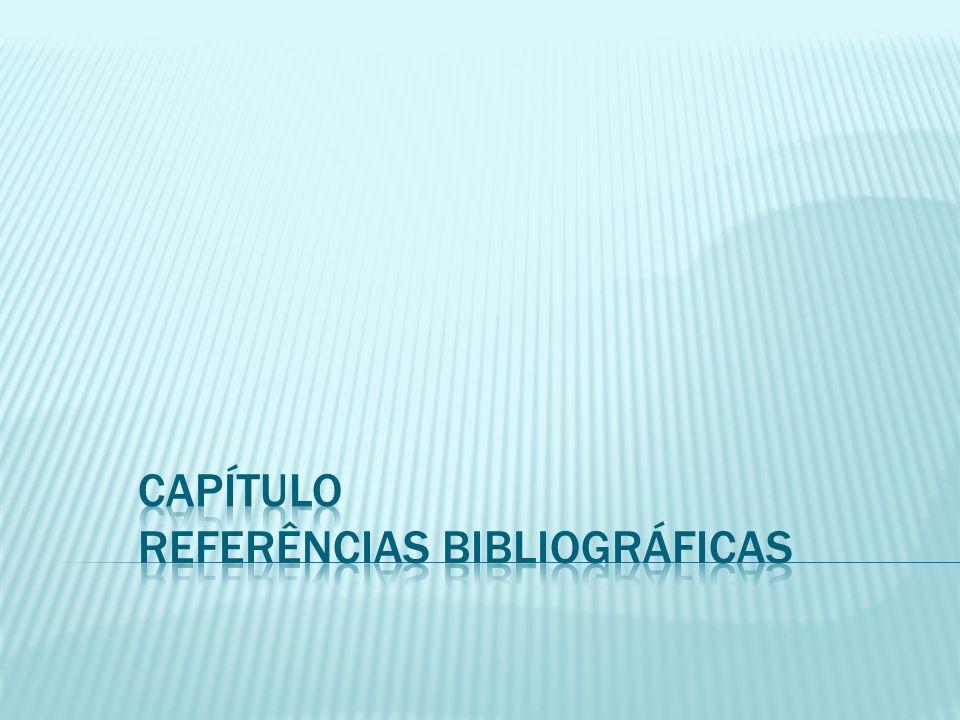 Capítulo Referências Bibliográficas