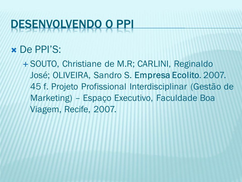 Desenvolvendo o PPI De PPI'S: