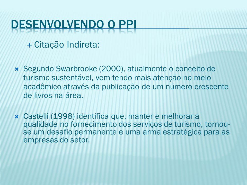 Desenvolvendo o PPI Citação Indireta: