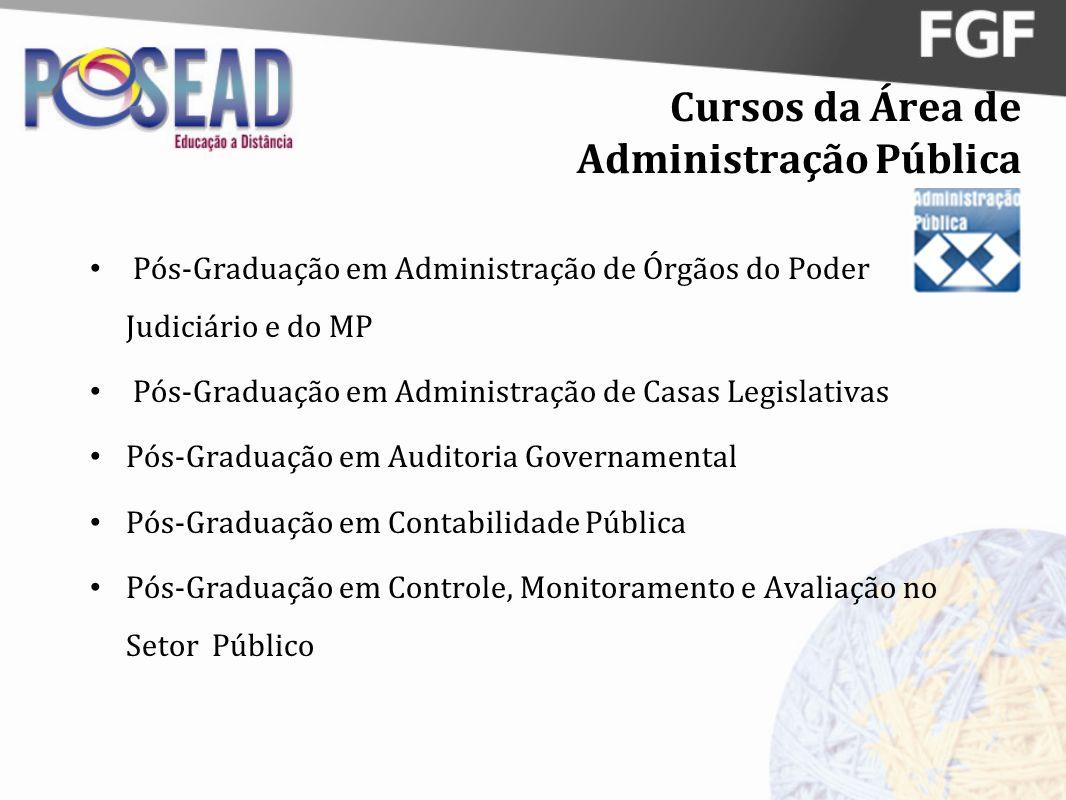 Cursos da Área de Administração Pública