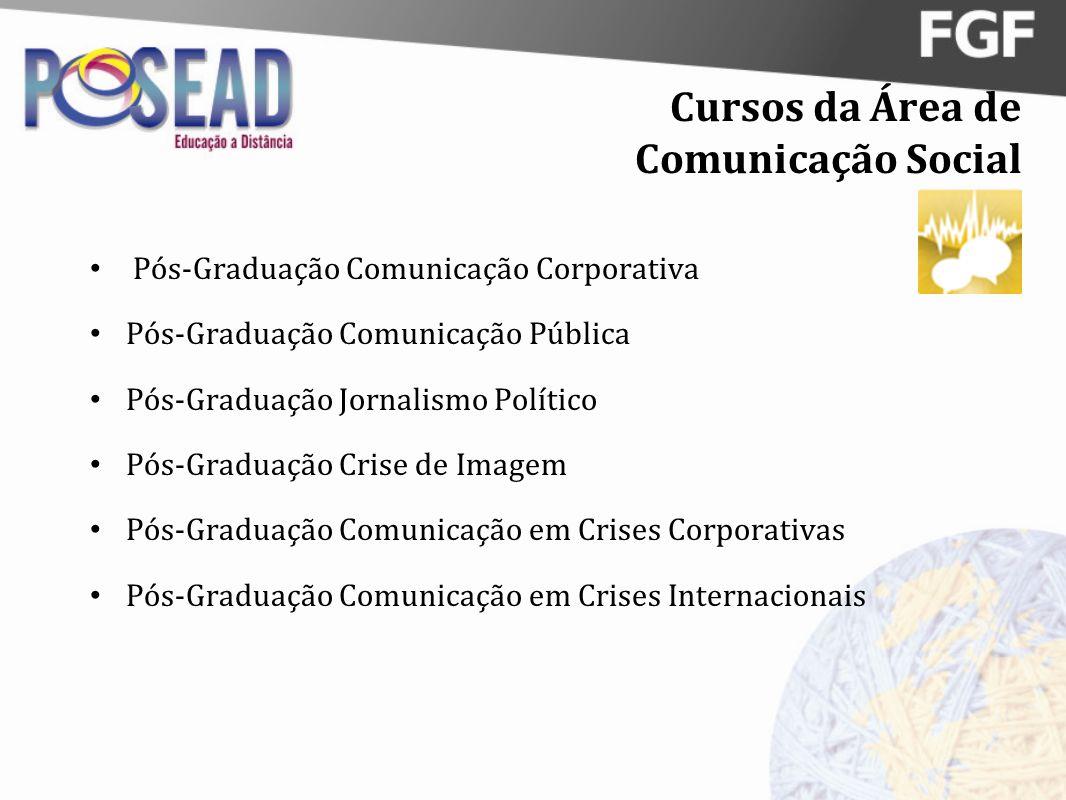 Cursos da Área de Comunicação Social