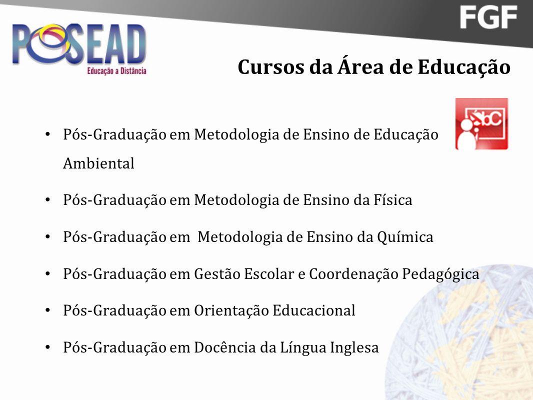 Cursos da Área de Educação