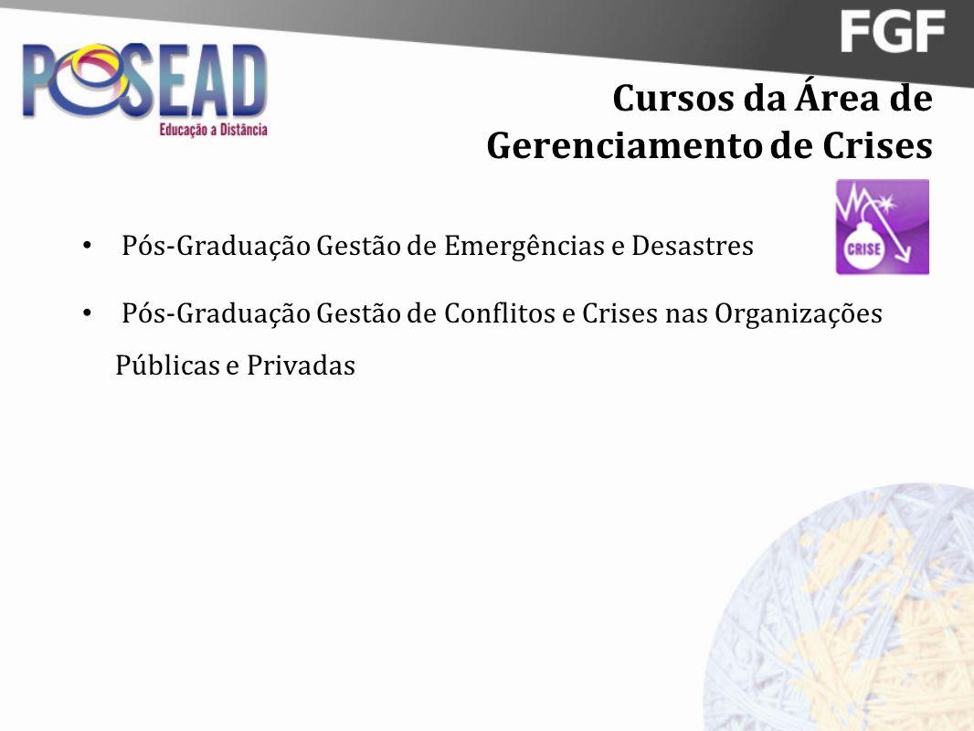 Cursos da Área de Gerenciamento de Crises