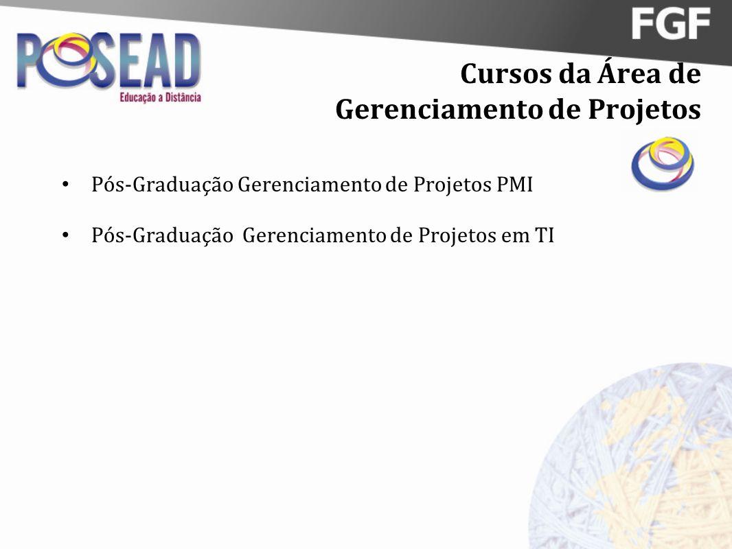 Cursos da Área de Gerenciamento de Projetos