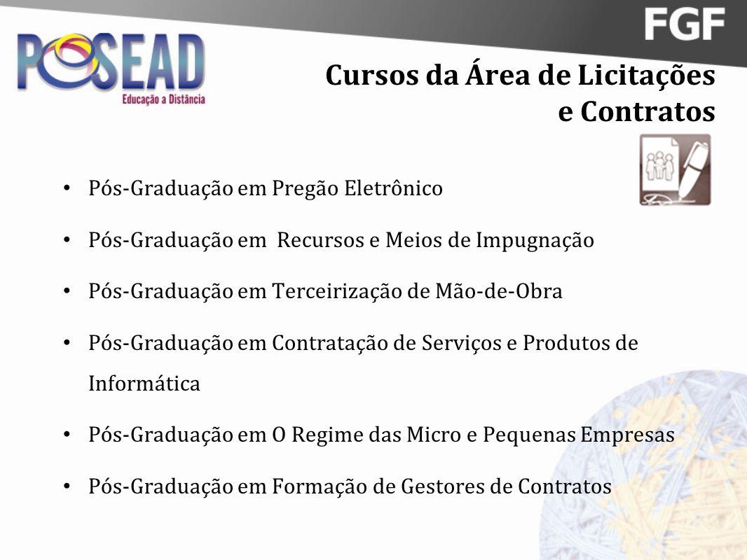 Cursos da Área de Licitações e Contratos