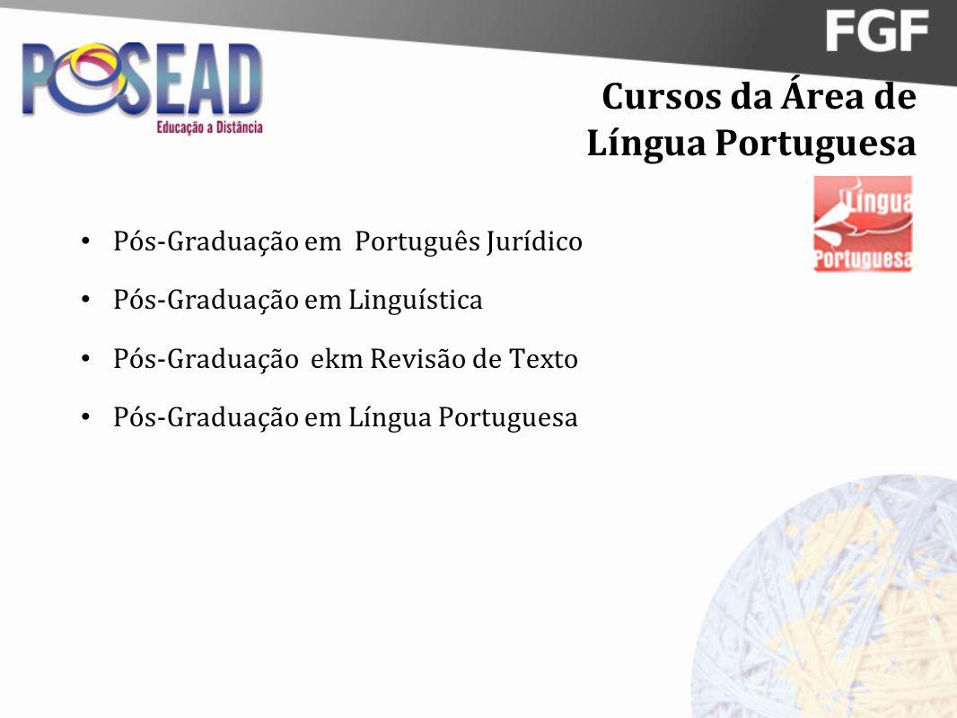 Cursos da Área de Língua Portuguesa