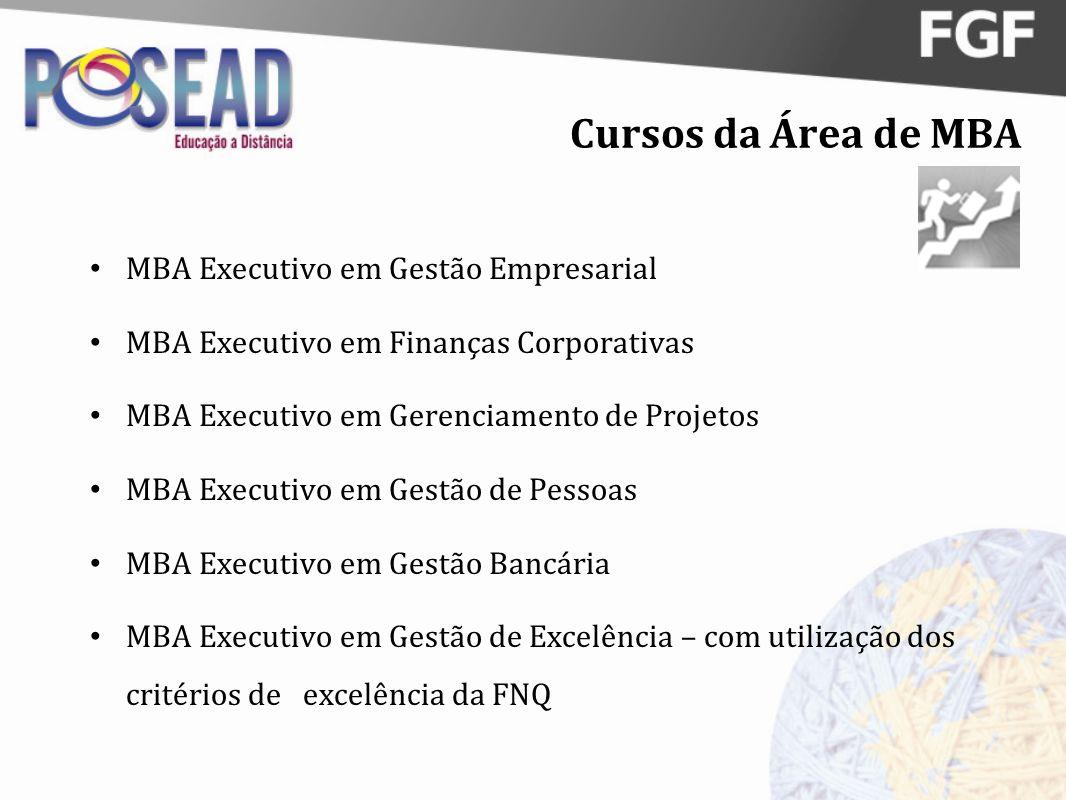 Cursos da Área de MBA MBA Executivo em Gestão Empresarial