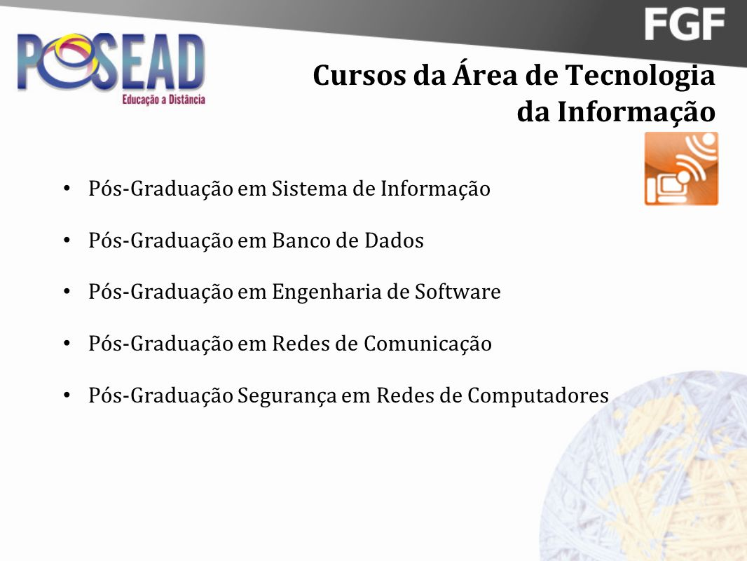 Cursos da Área de Tecnologia da Informação