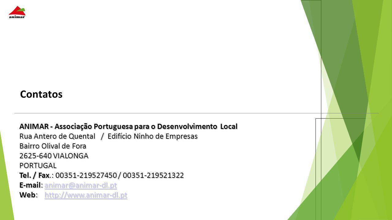 Contatos ANIMAR - Associação Portuguesa para o Desenvolvimento Local