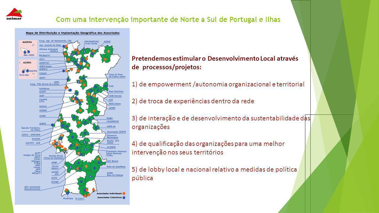 Com uma intervenção importante de Norte a Sul de Portugal e Ilhas