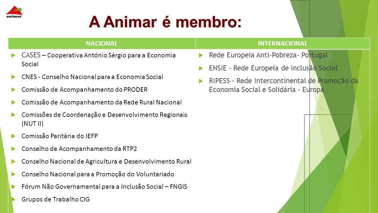 A Animar é membro: NACIONAL INTERNACIONAL