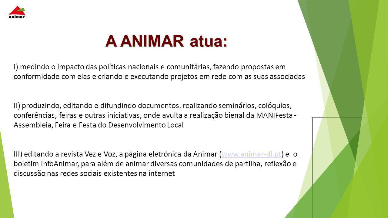 A ANIMAR atua: