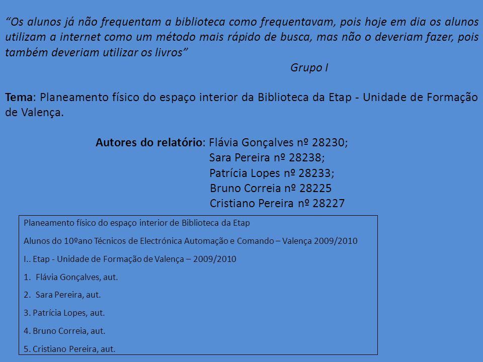 Autores do relatório: Flávia Gonçalves nº 28230;