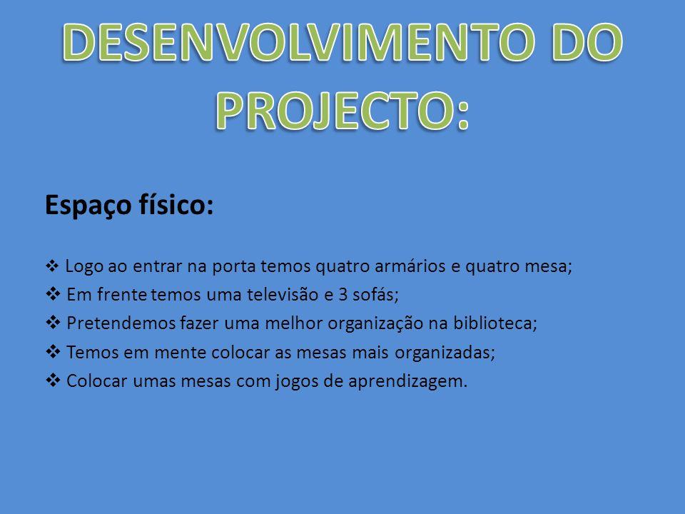 DESENVOLVIMENTO DO PROJECTO:
