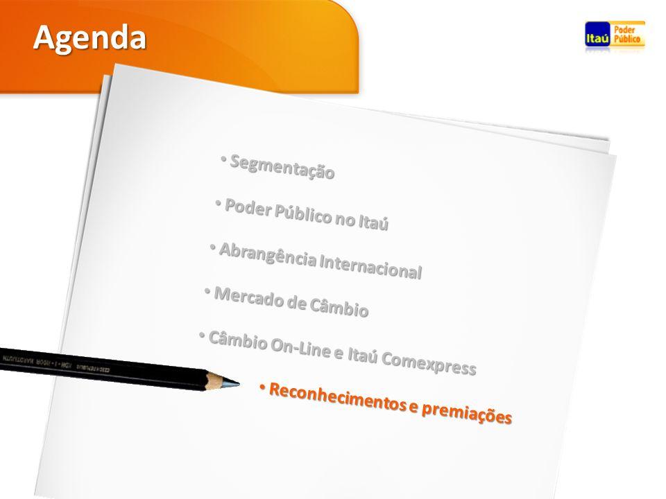 Agenda Segmentação Poder Público no Itaú Abrangência Internacional