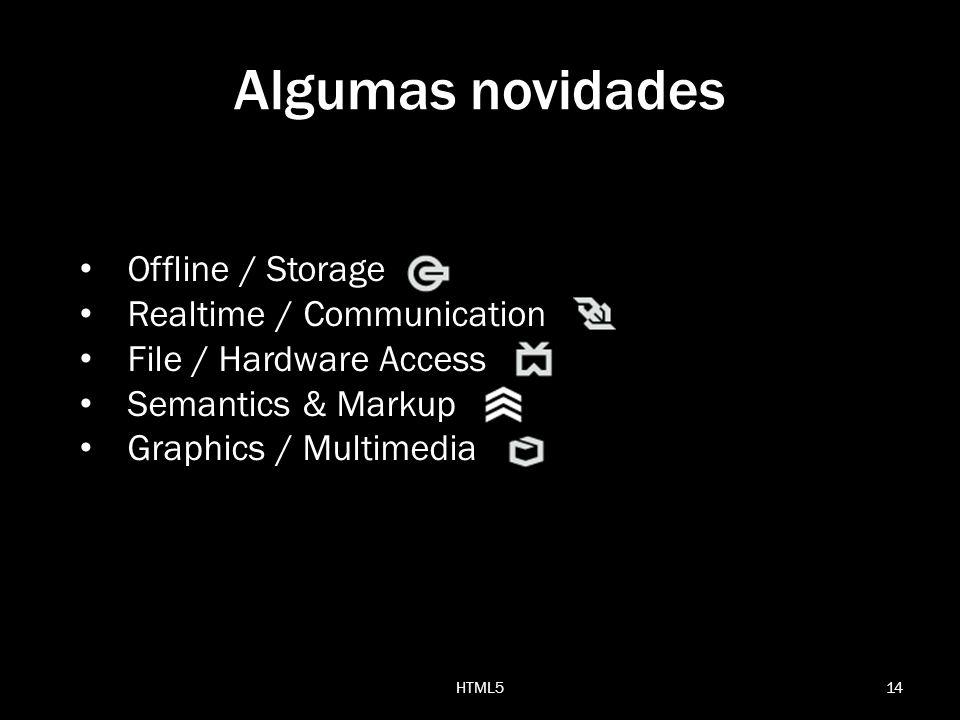 Algumas novidades Offline / Storage Realtime / Communication
