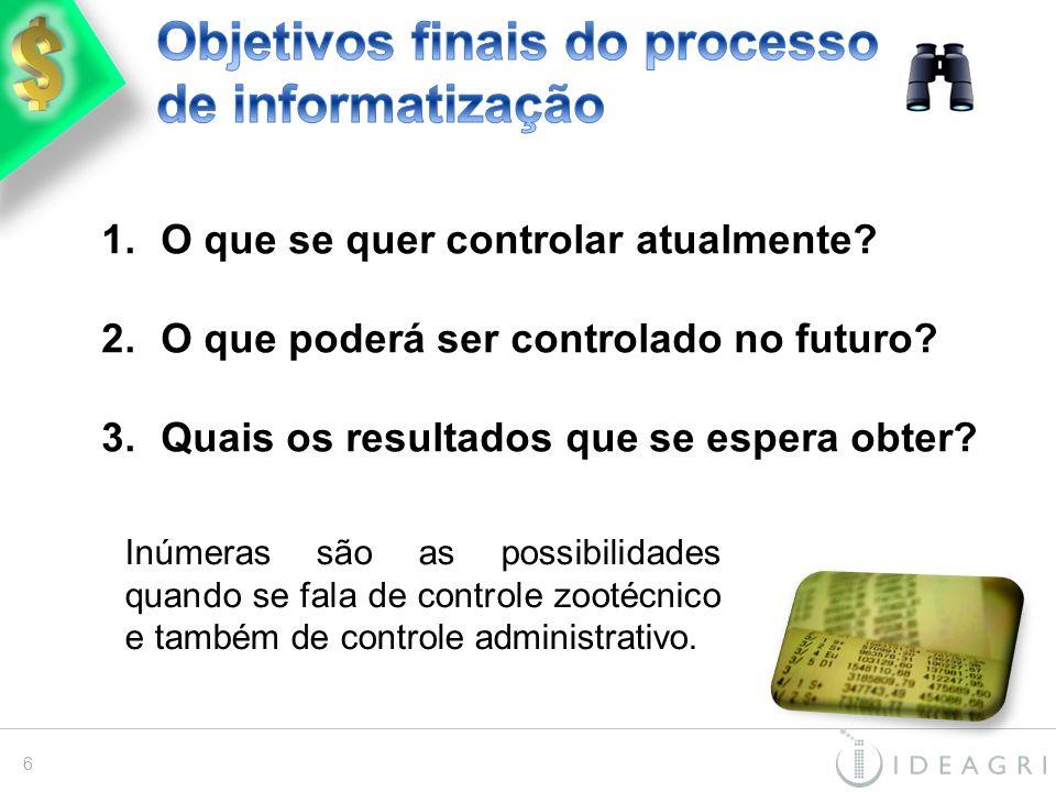 Objetivos finais do processo de informatização