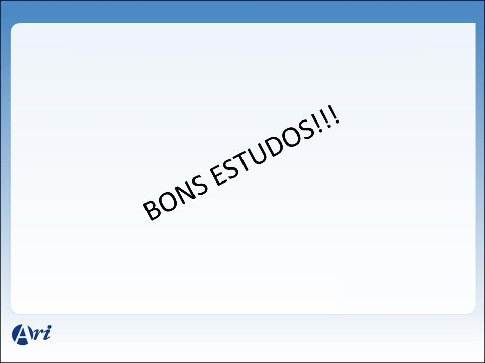 BONS ESTUDOS!!!